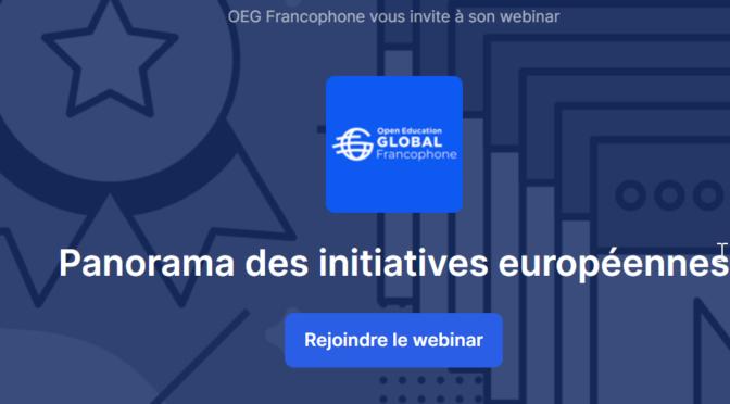 Conférence Open Education Global : DECLAME'FLE dans les  initiatives européennes