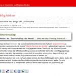 Entwicklungsfähige Blogosphäre – ein Blick auf deutschsprachige Geschichtsblogs
