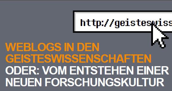 """Tagung """"Weblogs in den Geisteswissenschaften"""" am 9.3.2012"""