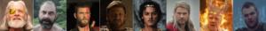 visages de différents acteurs
