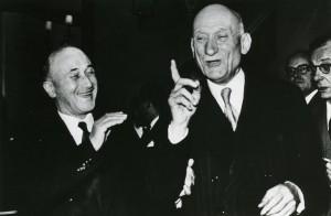 Robert Schuman et Jean Monnet