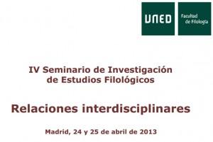 Seminario en la Facultad de Filología de la UNED