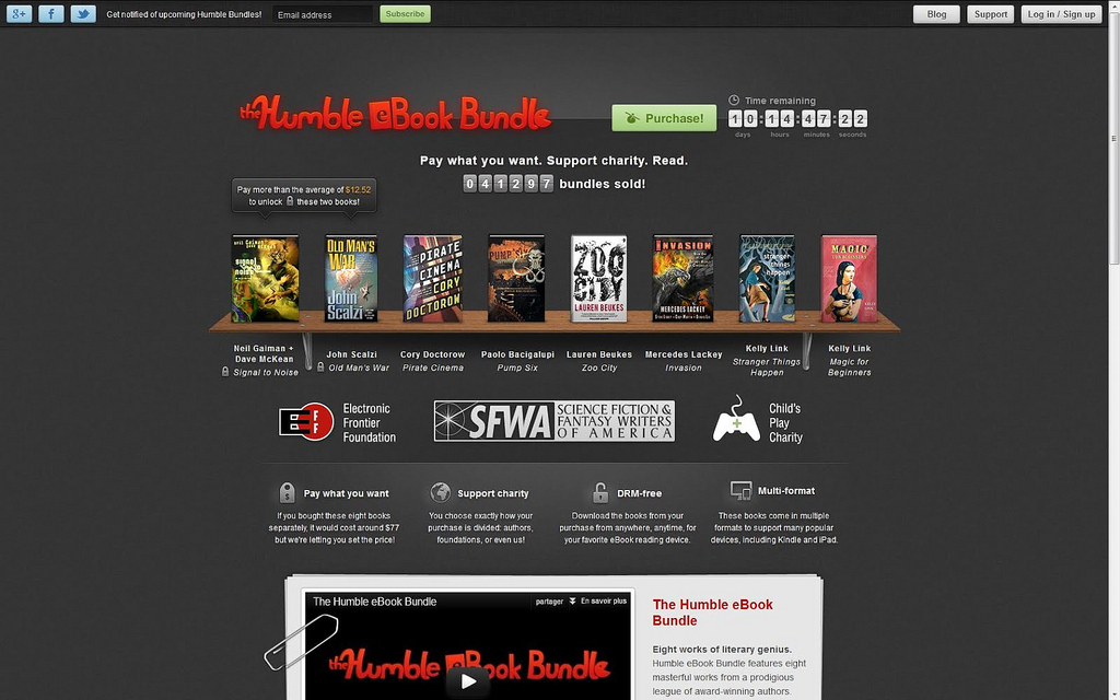 Page principale du site