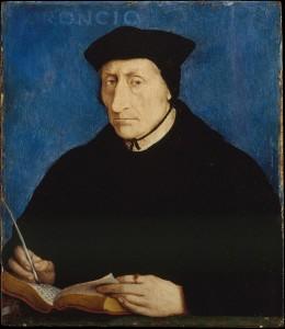 Portrait de Guillaume Budé réalisé par Jean Clouet, huile sur panneau, vers 1536.