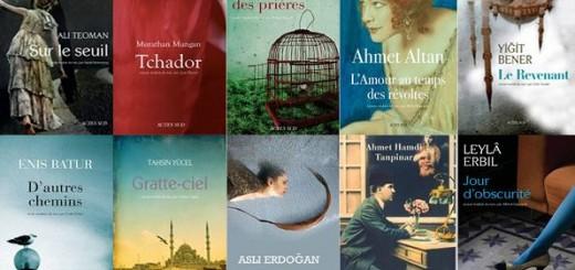 Sélection de titres publiés dans la collection Lettres Turques chez Actes Sud.