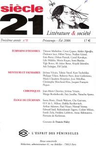 Revue Siècle 21, n°8, Printemps-Été 2006, numéro dédié aux écrivains d'Istanbul
