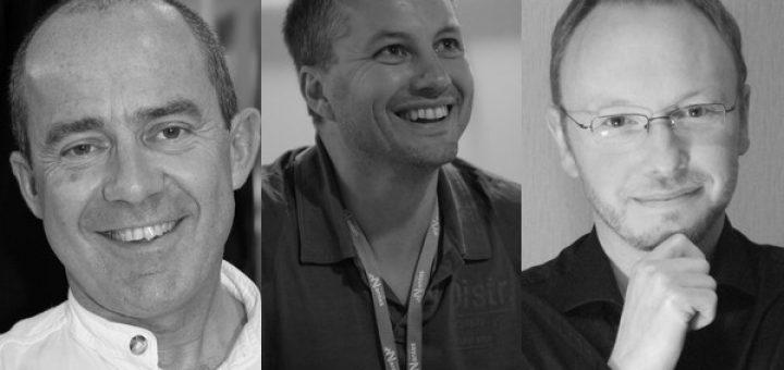 Photos : Pierre Bottero, Erik L'Homme, Pierre Grimbert (de gauche à droite)
