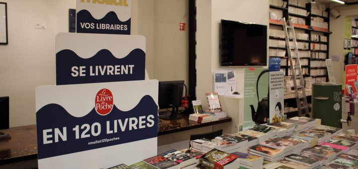 Évènement organisé à l'occasion des 120 ans de la librairie Mollat CC-BY-SA Photo prise en avril 2016 by ActuaLitté Source