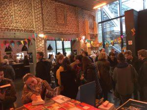 Photographie du festival Émois & moi à la Maison Folie Moulins, à Lille le 18 mars 2017 par la librairie Dialogues Théâtre.