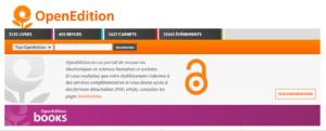 OpenEdition captura de pantalla