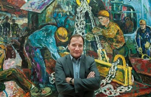 Stefan Löfven au siège d'IF Metall