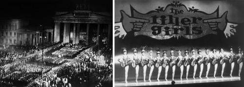 Une parade militaire - Des Tiller Girls
