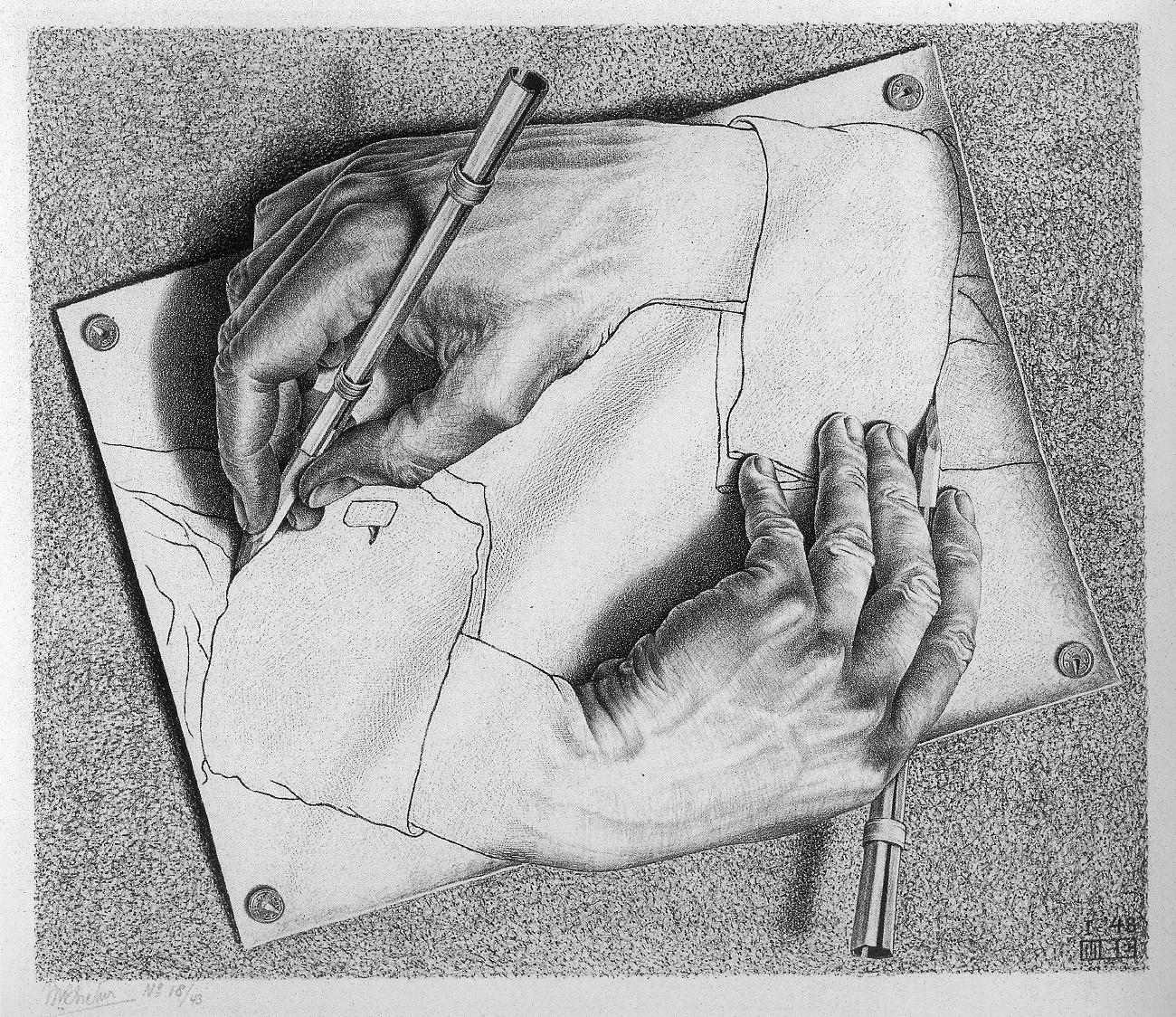 Escher-Drawing-Hands
