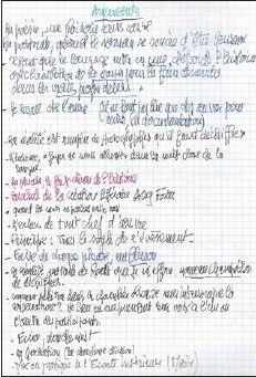 Chaillou Cahier préparatoire