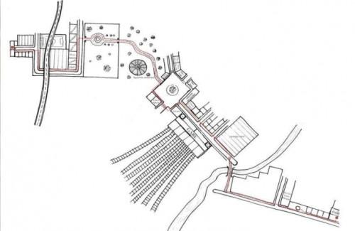 Fig. 12 : représentation spatiale du parcours du personnage de Gustave dans Plus tard de Gaëtan Dorémus (2000)