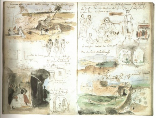 Fig. 2 : pages du carnet de Delacroix (1832)