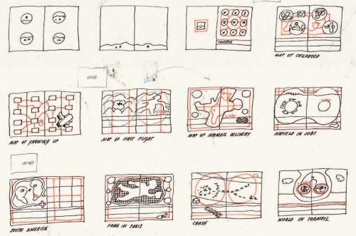 Figure 6 : Dessins préparatoires pour Le Pilote et le Petit Prince (2014)