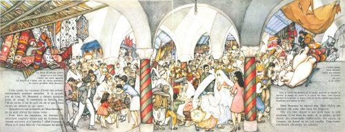 Le marché dans Habib.