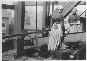 Cribeleuses au charbonnage de Sainte Marguerite à Liège (vers 1900) Université de Liège-collection du CHST