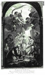 Adoration des Mages gravée par Etienne Fessard