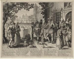 Claes Jansz. Visscher, Le fils ingrat, 1609. coll. Hennin n° 1351.