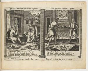 Justus Sadeler, Histoire du fils ingrat, édité par Jean Leclerc