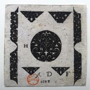 Monogrammiste AD, suite de modèles d'orfèvrerie, 1608