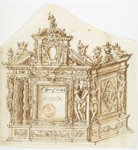 Recueil de dessins d'architecture de Montano. BnF, Estampes, Hb-22-4.