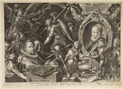 Gilles Sadeler, Portrait du peintre Bartholomé Spranger et de son épouse