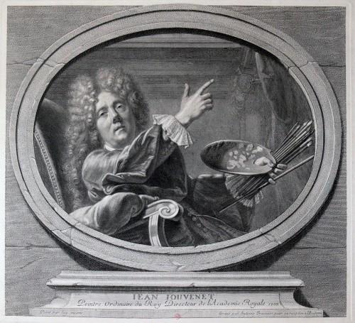 Autoportrait de Jean Jouvenet, gravé par Antoine Trouvain