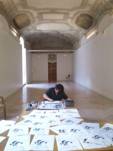 Kenji Takenaka dans la galerie Mansart