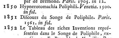 Catalogue Crozat, 1751