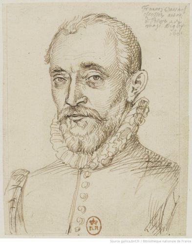 Nicolas Quesnel, Portrait de François Quesnel, 1601, dessin à la plume et encre brune. BnF, Estampes, Na-22 (21)-boîte écu