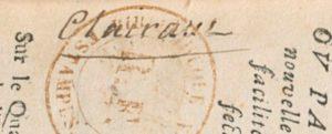 Ex libris manuscrit de Jean-Baptiste Clairaut