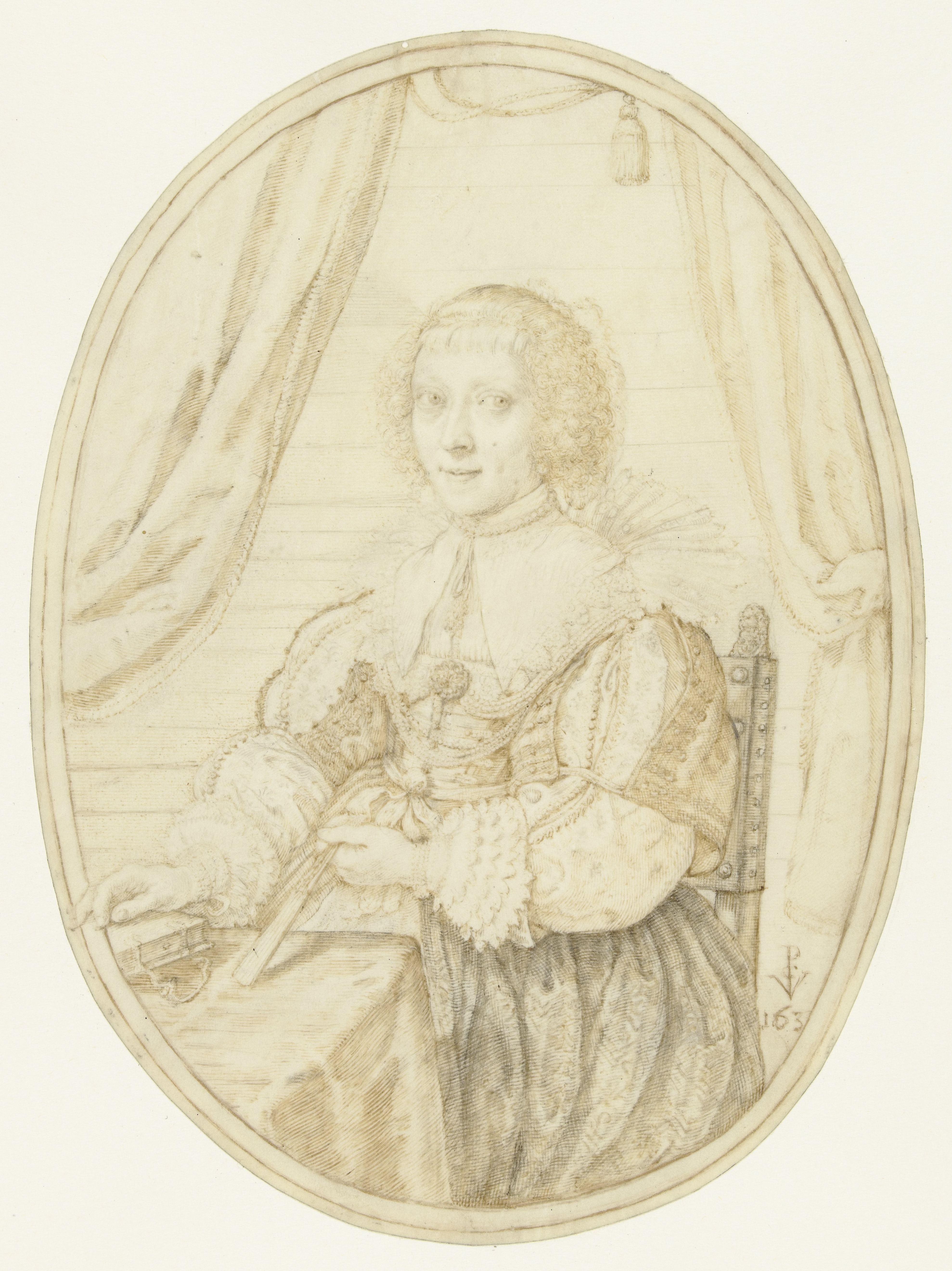 Crispin II de Passe, Portrait d' Anna Maria van Schurman, Rijkmuseum