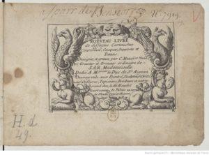 Ex-libris manuscrit de Sparr de Benstorf