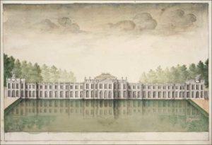 Vue du château de Tervuren (1753). Bruxelles, société des Bollandistes
