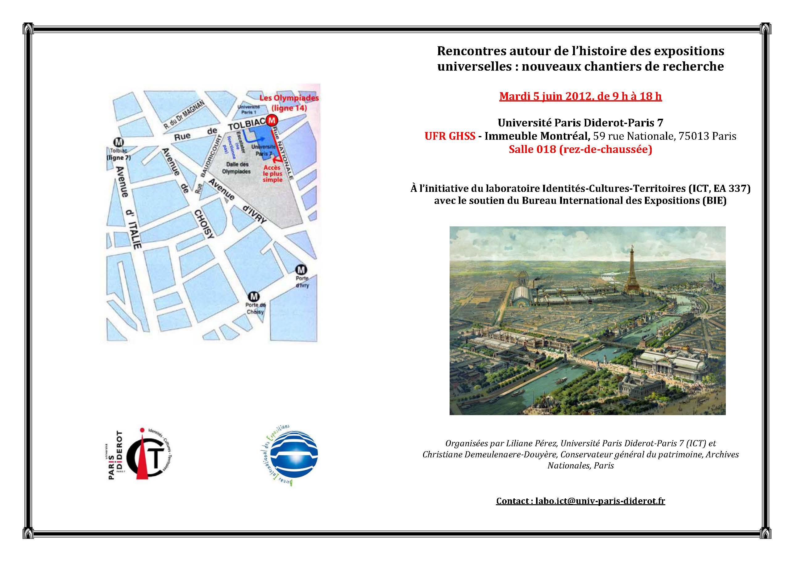 Rencontres autour de l histoire des expositions - Bureau international des expositions ...