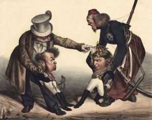 Louis-Philippe incite Don Pedro à lutter contre son frère, Don Miguel, lui-même encouragé par le tsar Nicolas I.