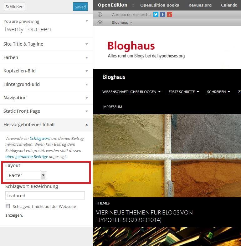 Bloghaus - Customize - Raster