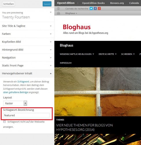 Bloghaus - Customize - featured