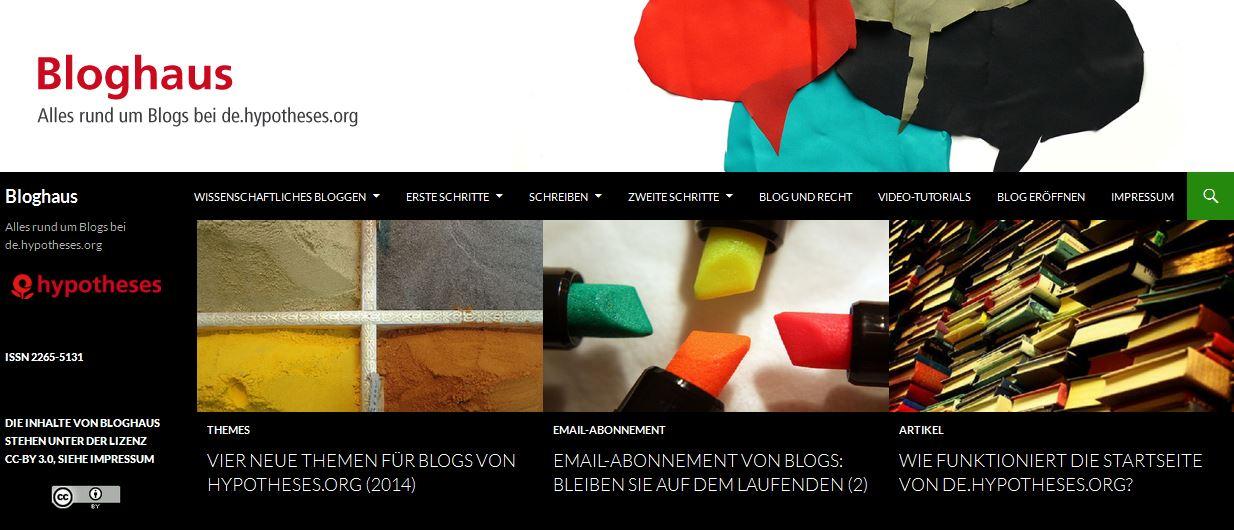 Bloghaus - Screenshot
