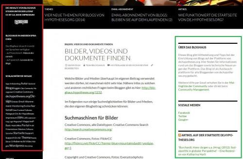 Bloghaus - Widget
