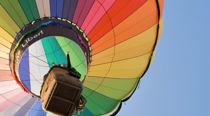 Heißluftballon als Ausschnitt