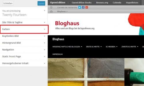 Bloghaus - Farben 1