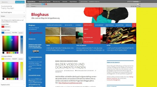 Bloghaus - Farben - Customize 2