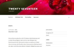 Screenshot des neuen Themes