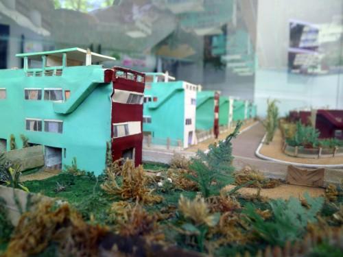 La maquette de la cité jardin, exposée dans une maison-rémoin avec visite organisée par la Ville