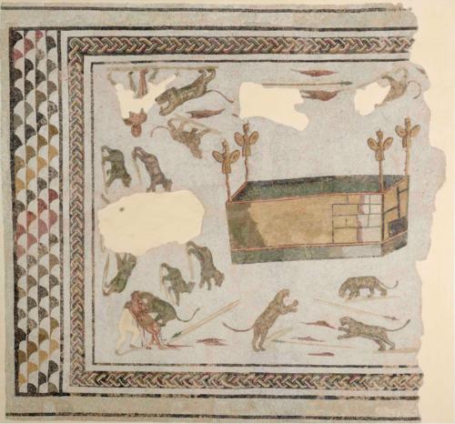 Mosaïque romaine conservée au musée d'El Jem