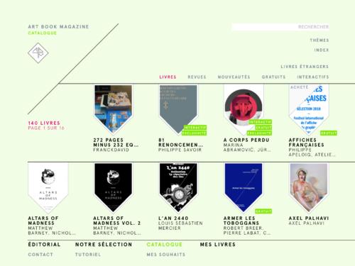 Catalogue de Art Book Magazine sur l'app